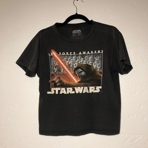 Star Wars black t-shirt, size large (boys)